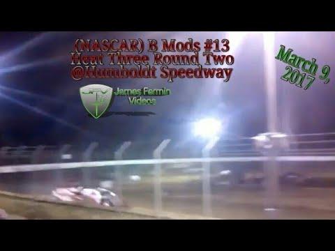 B Mod #13, Round 2 Heat 3, Thursday Night, Humboldt Speedway, 2017