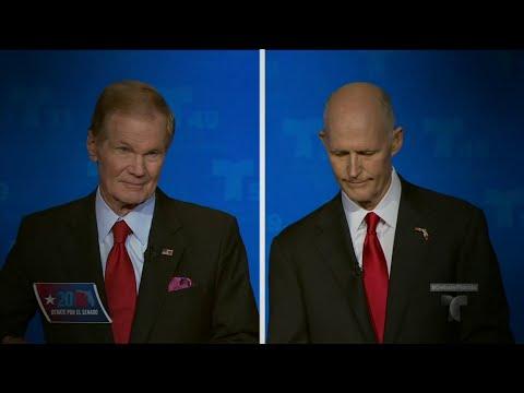 Nelson, Scott spar amid call for recount of Florida Senate race