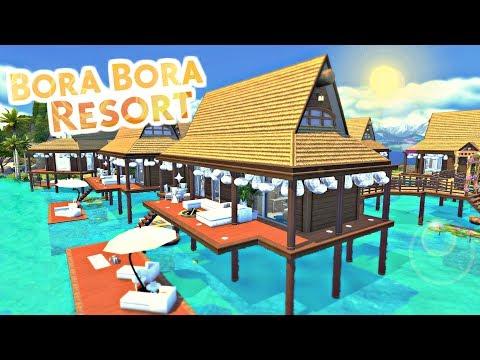 The Sims 4 - BORA BORA RESORT + Giveaway | Speed Build