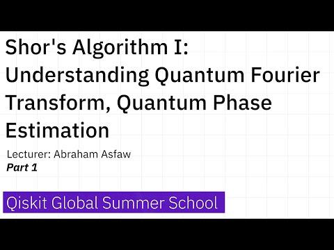 7. Shor's Algorithm I: Understanding Quantum Fourier Transform, Quantum Phase Estimation - Part 1