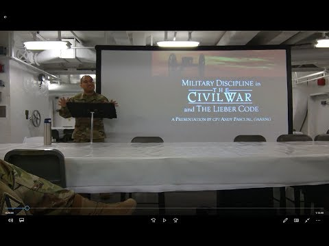 Military Discipline in the Civil War and the Lieber Code