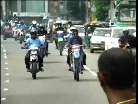 Minister Mervin Silva's Bike Ride