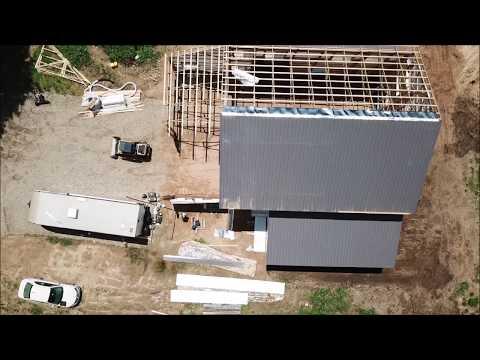 Hunting Cabin Pole Barn Update - Metal roof