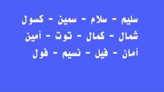 Cours d'arabe : Lecture de mots à partir des 12 lettres