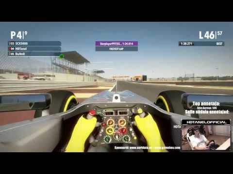 Vormel 1 Bahrain Grand Prix - F1 2012 - 100% võidusõit fännidega! (1080p) HD!