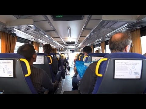 Sweden, Stockholm, ride with free IKEA bus from Kungens Kurva to Hornstull