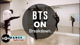 "BTS ""ON"" Dance Tutorial (Breakdown)"