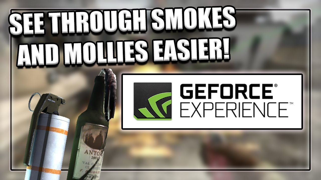 HOW TO SEE THROUGH SMOKES/MOLOTOVS EASIER (NVIDIA SETTINGS) (CSGO)