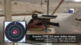 Sumatra 2500 .22 Pellet testing, dialing in the power - by Rick Eutsler / AirgunWeb