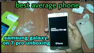 Unboxing samsung galaxy on 7 pro full specification android tips & tricks