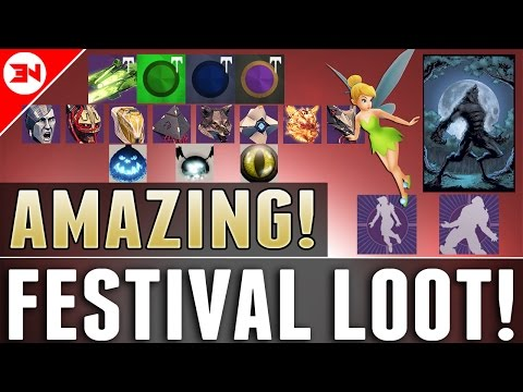 NEW WEREWOLF & TINKERBELL EMOTES! - Festival Of The Lost 2016 Loot Rewards & Drops !