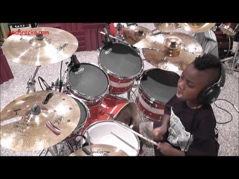 Blink 182 - Hearts All Gone  7 Year Old Drummer  Jonah Rocks