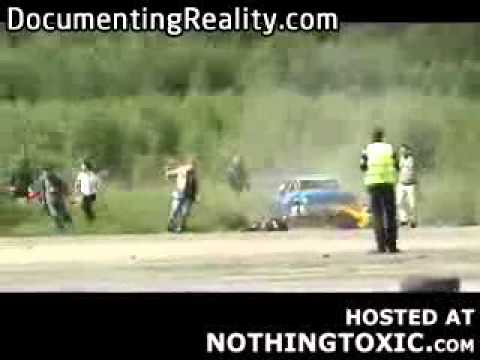 Another drift event fail in Lithuania results in a few dead spectators and an amusing video clip