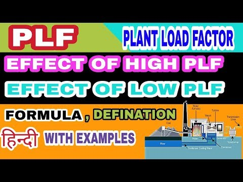 What is plant load factor in power plant || What is PLF in power plant|| Meaning of PLF