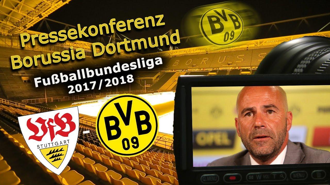 VfB Stuttgart - Borussia Dortmund: Pk mit Peter Bosz