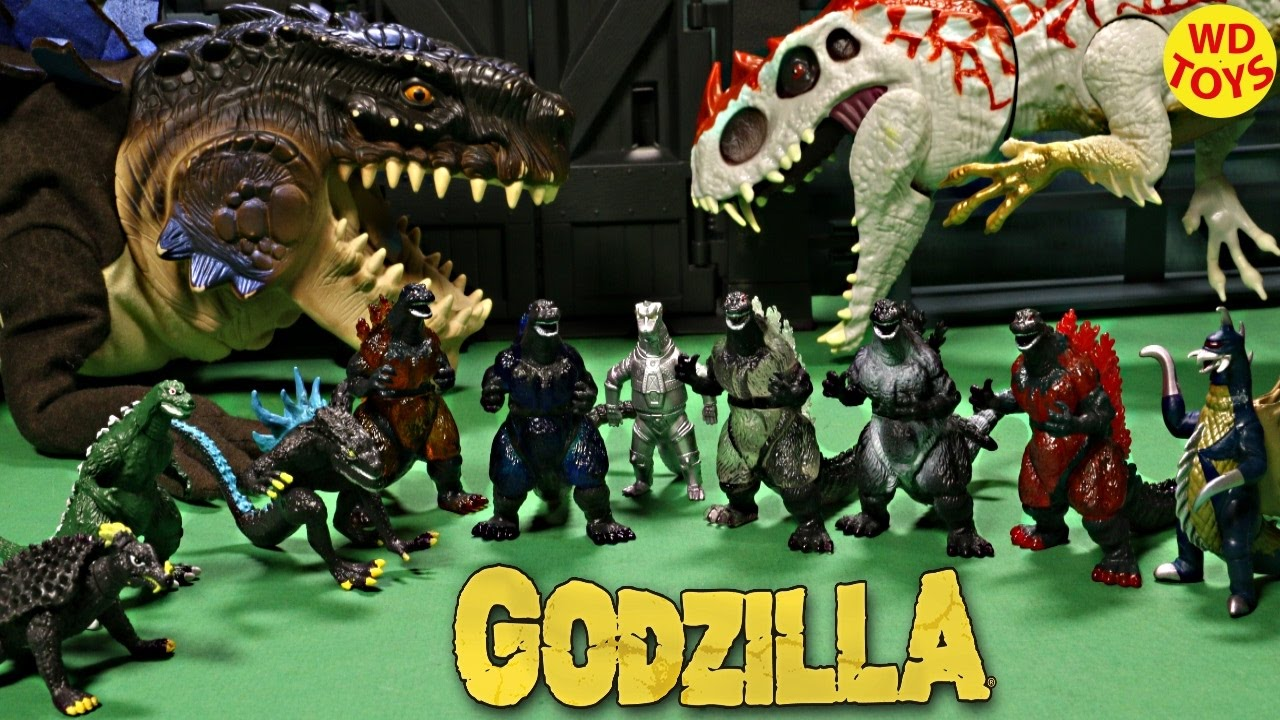 New 10 Godzilla Toy Figures Vs Hybrid Indominus Rex