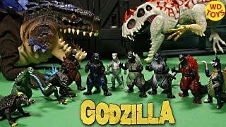 New 10 Godzilla Toy Figures Vs Hybrid Indominus Rex Jurassic World Gigan Anguirus Unboxing