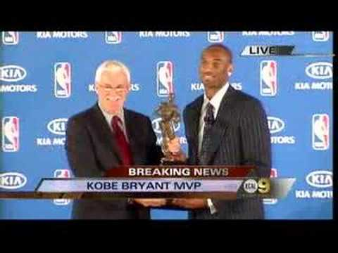 Kobe Bryant Wins the 2008 NBA's Most Valuable Player Award