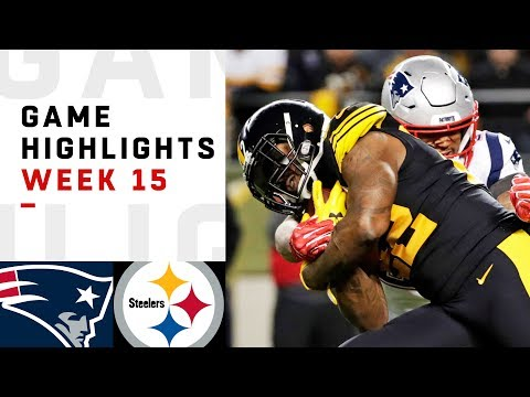 Patriots vs Steelers Week 15 Highlights  NFL 2018
