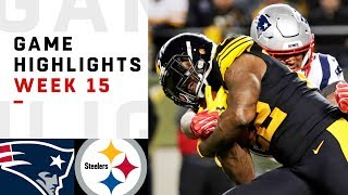 Patriots vs. Steelers Week 15 Highlights | NFL 2018