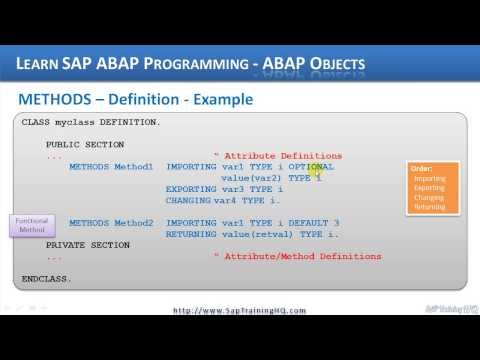 ABAP Objects - How To Declare Methods In ABAP Objects Class Definitions