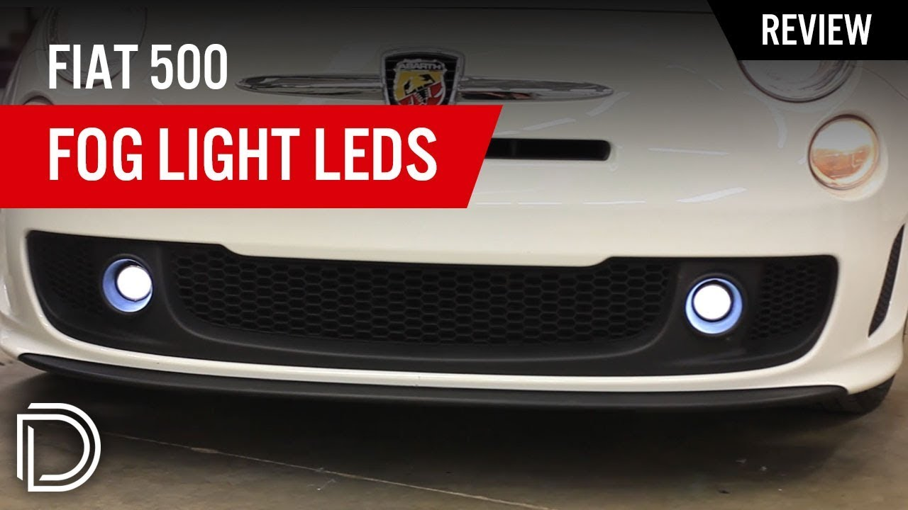 maxresdefault fiat 500 fog light leds youtube Fiat 500 Abarth Tributo Ferrari at n-0.co