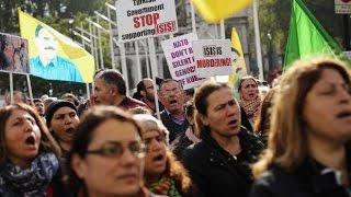 Kurdish demonstration (protest BBC) STOP Turkey's war on the Kurds, London, UK, 6 March 2016