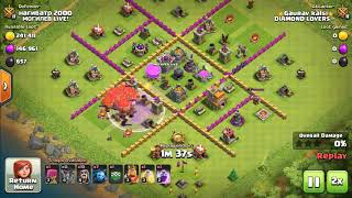 Best attacking stratigies for town hall 7 clash of clans by use of ballon and rage spell