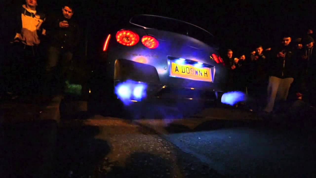 Nissan Skyline R35 GTR Spitting Flames YouTube