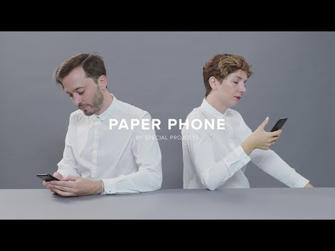 Paper phone - A printable Paper Phone which helps you take a break away from your digital world