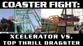 Xcelerator vs. Top Thrill Dragster - COASTER FIGHTS!