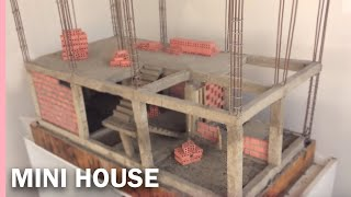 bRICKLAYING: MINI-HOUSE, FOUNDATION MODEL || Overview of the model of building a two-storey house