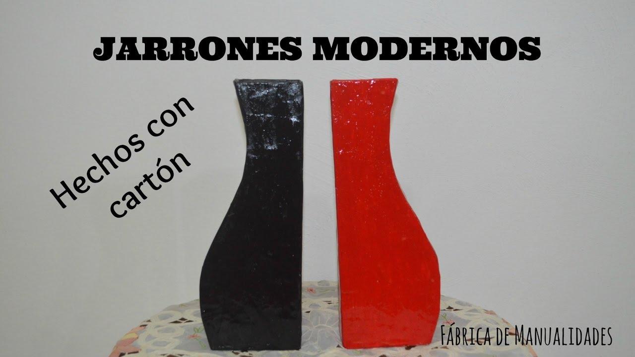 jarrones modernos hechos con cartn - Jarrones Modernos