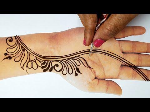 Easy Stylish Mehndi For Eid 2019 - Beautiful Mehndi Design 2019 - सुंदर मेहँदी लगाने का आसान तरीका