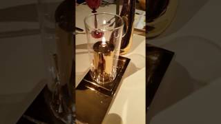 Golden Candle at Al Iwan Restaurant Burj Al-Arab Dubai 09.11.2016