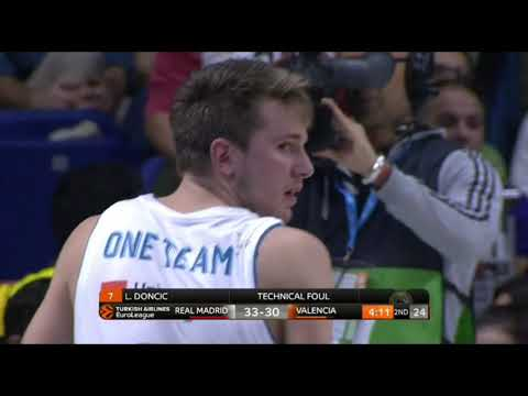 Luka Doncic ejected in the game Real Madrid - Valencia