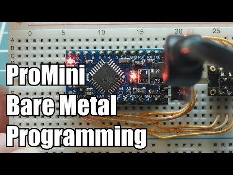 Arduino ProMini Bare Metal Programming