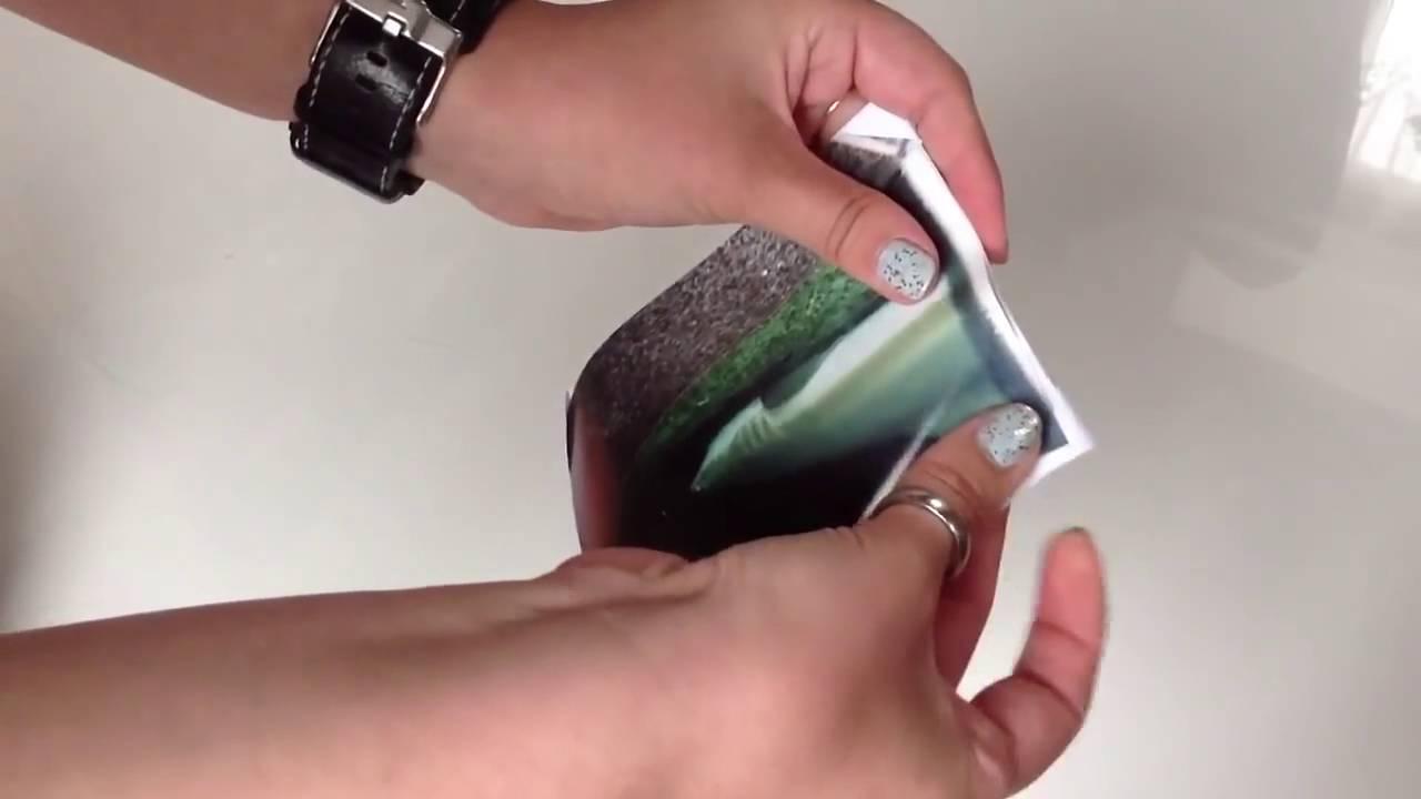 Bilderrahmen mit Origami basteln Rahmen aus Papier - YouTube
