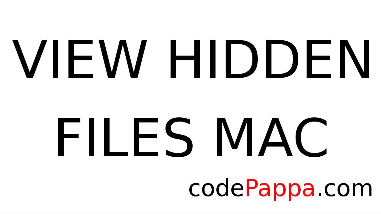 how to get to hidden files mac
