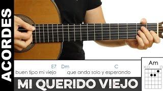 Como tocar Mi Querido Viejo de Piero en guitarra Acordes para guitarra tutorial de  guitarraviva