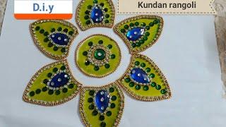D.i.y how to make ohp sheet coloured kundan rangoli 2017