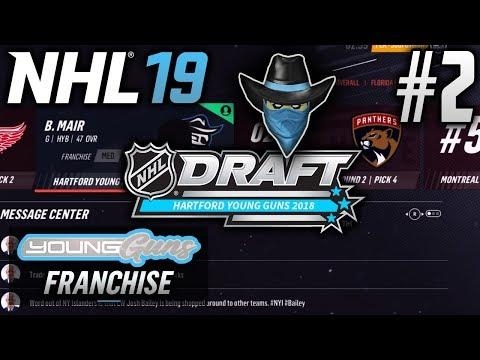 NHL 19 Young Guns | Expansion Franchise | EP2 | FRANCHISE GOALIE! (2018 Entry Draft)