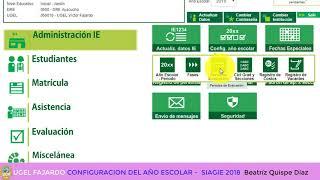 configuración del año escolar 2018 SIAGIE 2018 educación INICIAL