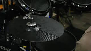 HiHat Alesis MKii Pro with Roland CY-5 on Ludwig stand
