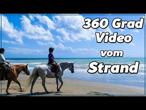 360 Grad Video vom Strand mit Rubi u Escada