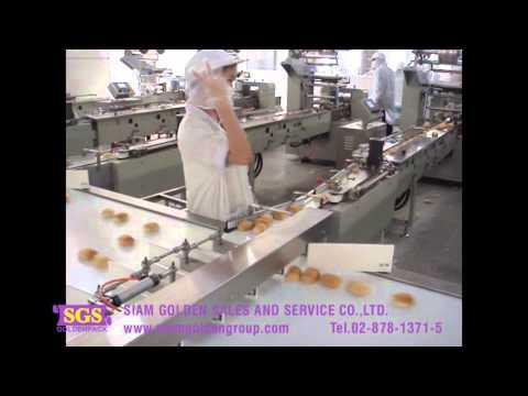 ออกแบบไลน์ผลิตและไลน์แพ็ค อัตโนมัติ เครื่องบรรจุแนวนอน เครื่องห้อแนวนอน ขนมปัง เบเกอร์รี่