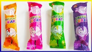 Funny Toddler Learn Colors with Lipstick Sugar - Lollipop Finger Family Song For Real Toddler