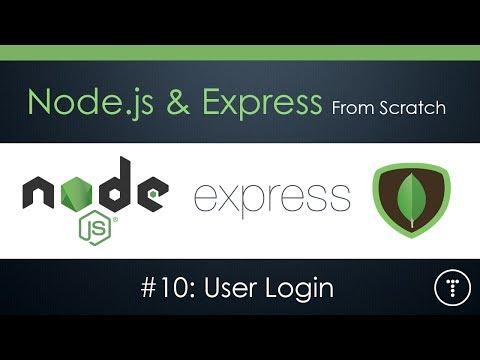 Node.js & Express From Scratch [Part 10] - User Login