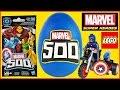 MARVEL 500 GIANT Play Doh Surprise Egg  Blind Bag Opening  Lego Toy Building  Superheroes