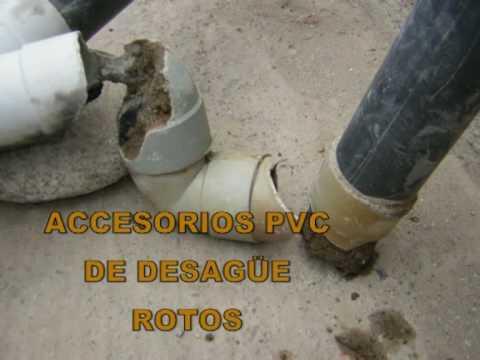 Problemas en tubos de desag e youtube - Tubos desague pvc ...
